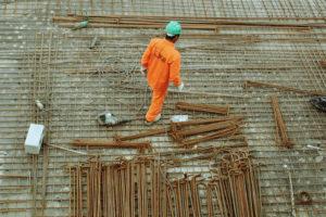 Arbeiten am Bau